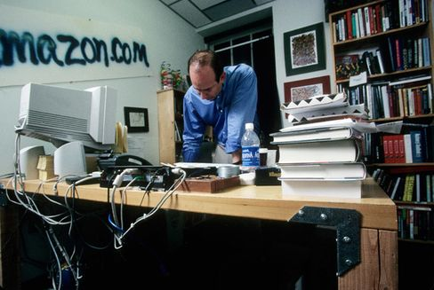 Bezos in his office in 1999
