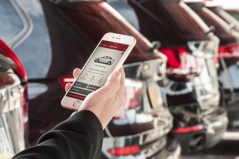 Avis's new app makes renting a specific car easy.