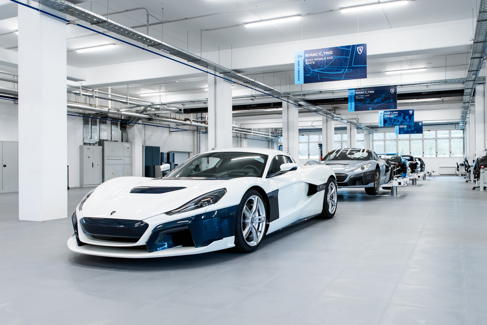 Rimac C Two electric ​hypercars.