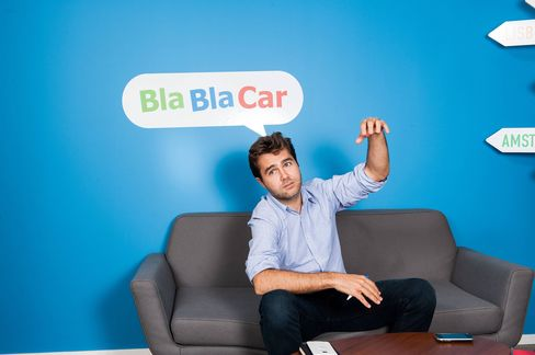 Frederic Mazzella, founder and chief executive officerof BlaBlaCar, at the company's offices in Paris.