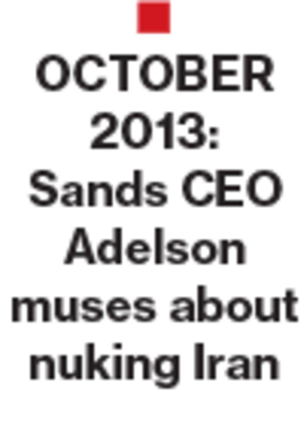 Iranian Hackers Hit Sheldon Adelson's Sands Casino in Las Vegas