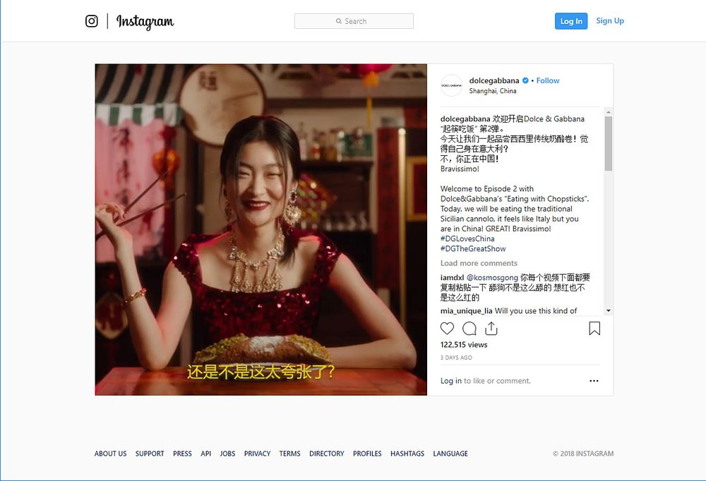 77efa9720c6 relates to China Slaps Down Dolce   Gabbana in Fight Over Offensive Videos