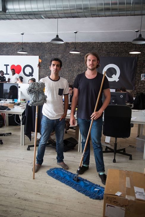Managed by Q co-founders Saman Rahmanian, left, and Dan Teran in their office in New York City.