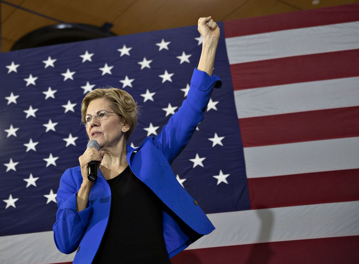 Big-Money Foe Elizabeth Warren Gets Backing From a Super-PAC