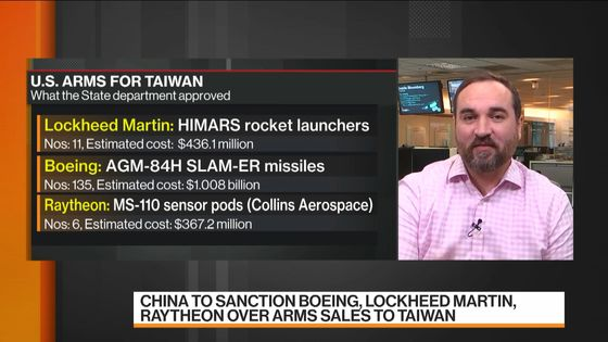 U.S. Backs Taiwan Missile Sale With China Tensions Soaring