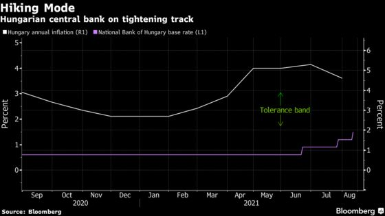 Hungary Begins Bond Tapering to Add Punch to Rate-Hike Cycle