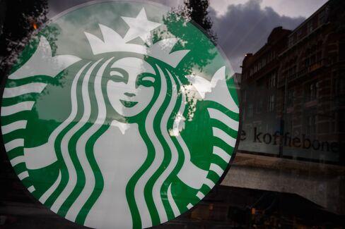 Starbucks Logo in Store