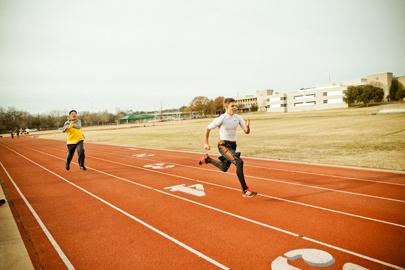 Racing a serious runner???Jiang lost