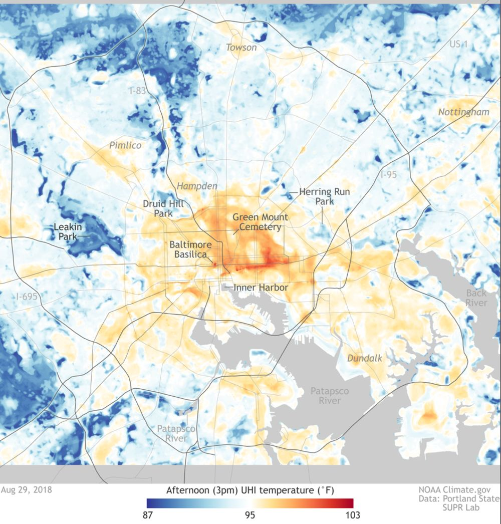Image of: Mapping Urban Heat Islands To Find Cool Spots Bloomberg