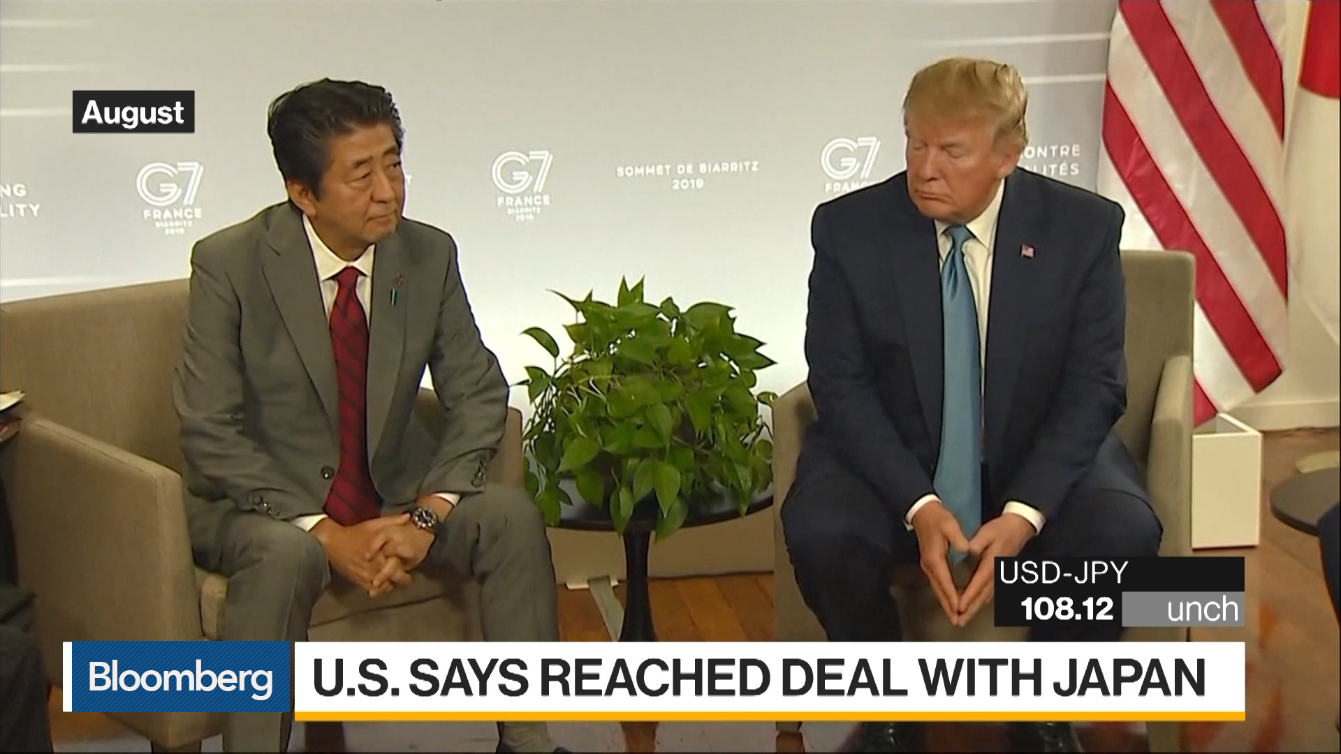 U.S. Says It's Reached Initial Trade Deal With Japan