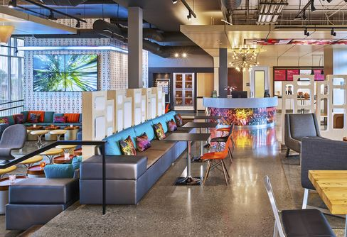 Inside the Aloft Santa Clara, one of the test properties for Project Jetson.