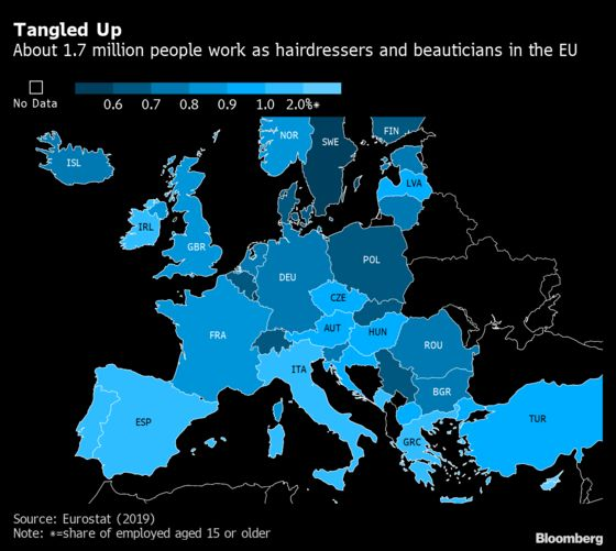 Lockdown Gives Millions of EU Cosmetologists the Big Chop: Map