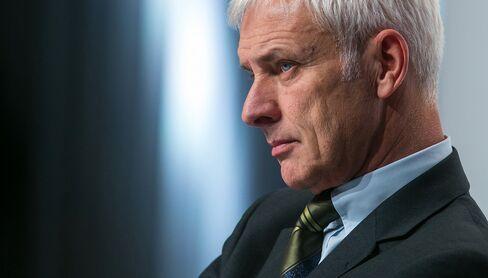 Volkswagen AG Chief Executive Officer Matthias Mueller Briefs Media On Status Of Diesel Emissions Investigation