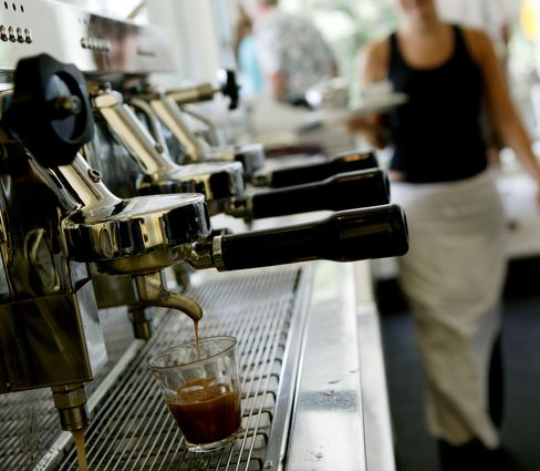 Coffee shop in Australia