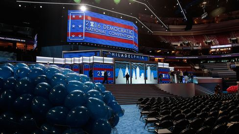 Preparations for the 2016 Democratic National Convention.