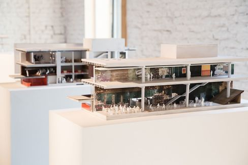 A model of the new Garage Museum.