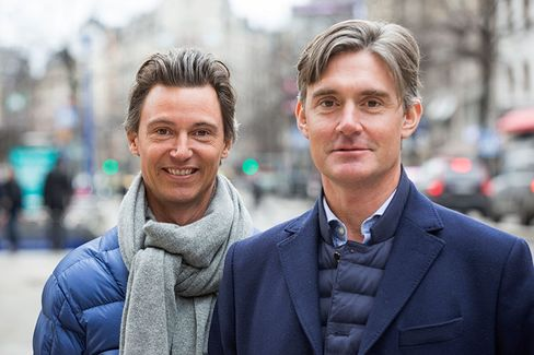 Jonas Nordlander, co-founder and chief executive officer of Avito AB, left, and Filip Engelbert, co-founder of Avito AB