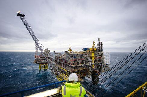 Statoil ASA's Oseberg A Offshore Gas Platform