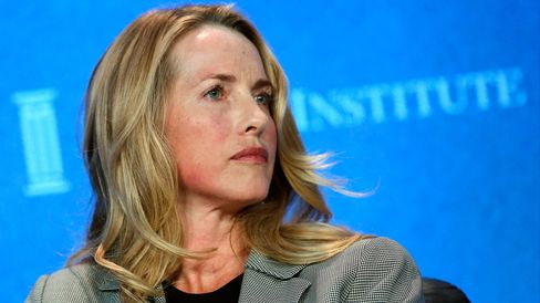 Laurene Powell Jobs at the Milken Institute Global Conference.
