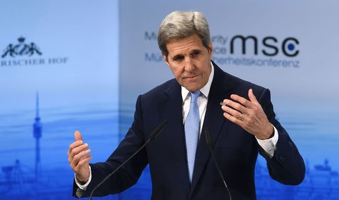 John Kerry speaks during the Munich conference
