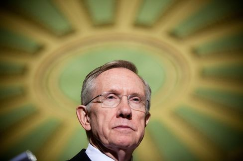 Senate Majority Leader Harry Reid, a Democrat from Nevada, speaks at a news conference on health insurance reform at the Capitol in Washington, D.C., on Oct. 14, 2009.