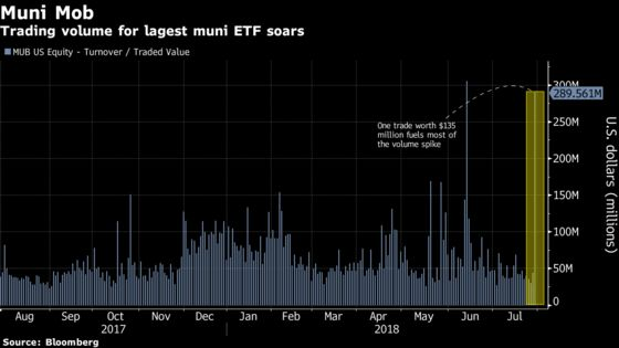 Largest Muni ETF Absorbs Massive Trading Amid a Drought in New-Issuance