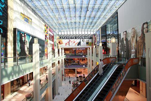 Retail shops inside the Dubai Mall.