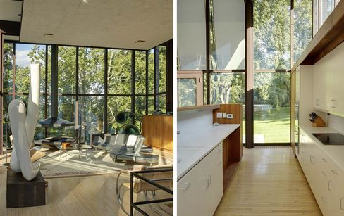 Philip Johnson designed the Wiley House in 1952; later Roger Ferris + Partners renovated and expanded it.