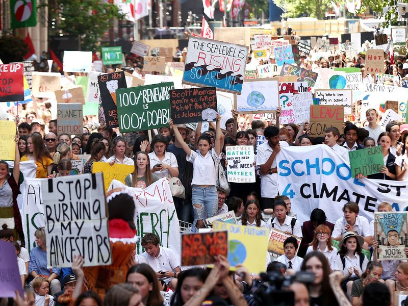 Students Walk Out Of School To Urge Action On Climate Change
