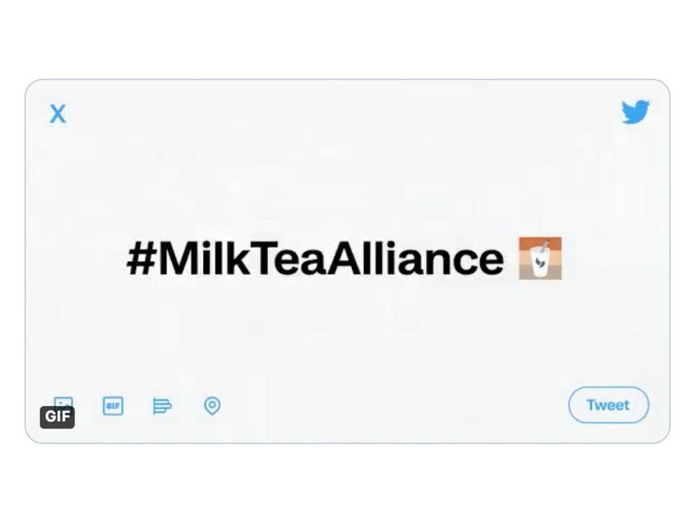 Twitter's#MilkTeaAlliance hashtag.