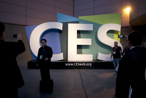 A CES Sign Sits Outside the 2013 CES in Las Vegas