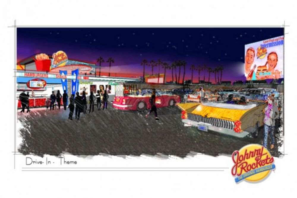 At Johnny Rockets The Future Of Retro Is Drive In Movies Bloomberg