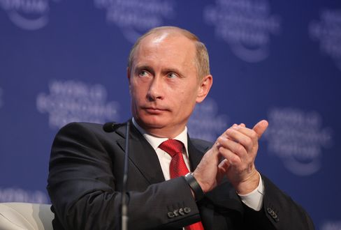 Russia's President Vladimir Putin at Davos in 2009