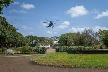 El aterrizaje de helicópteros.