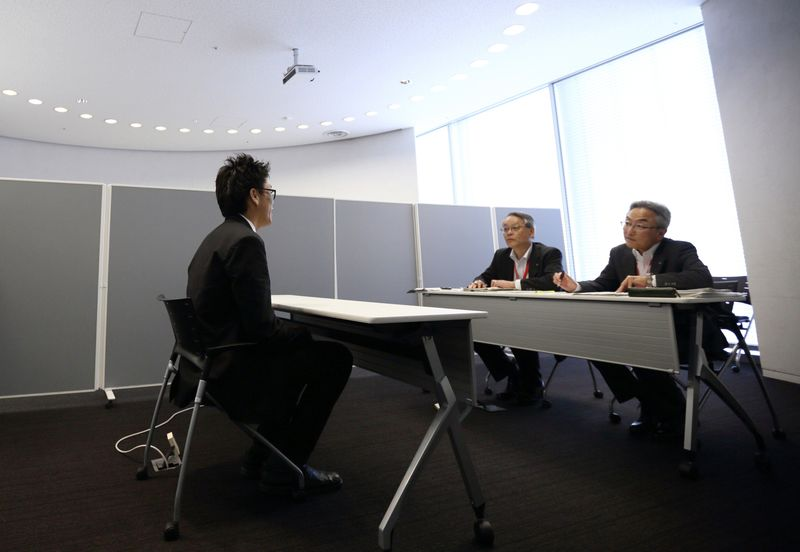 A job interview in Tokyo. Photographer: Tomohiro Ohsumi/Bloomberg