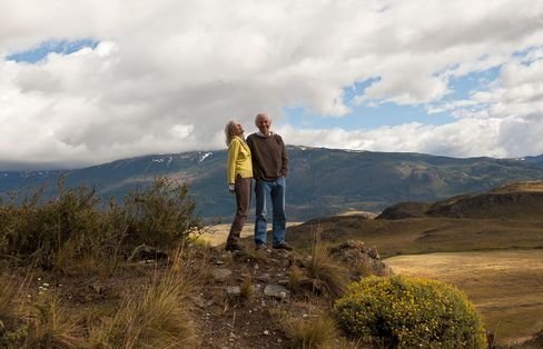 Kris and Doug Tompkins on the grounds of the Butler House in Patagonia Park.