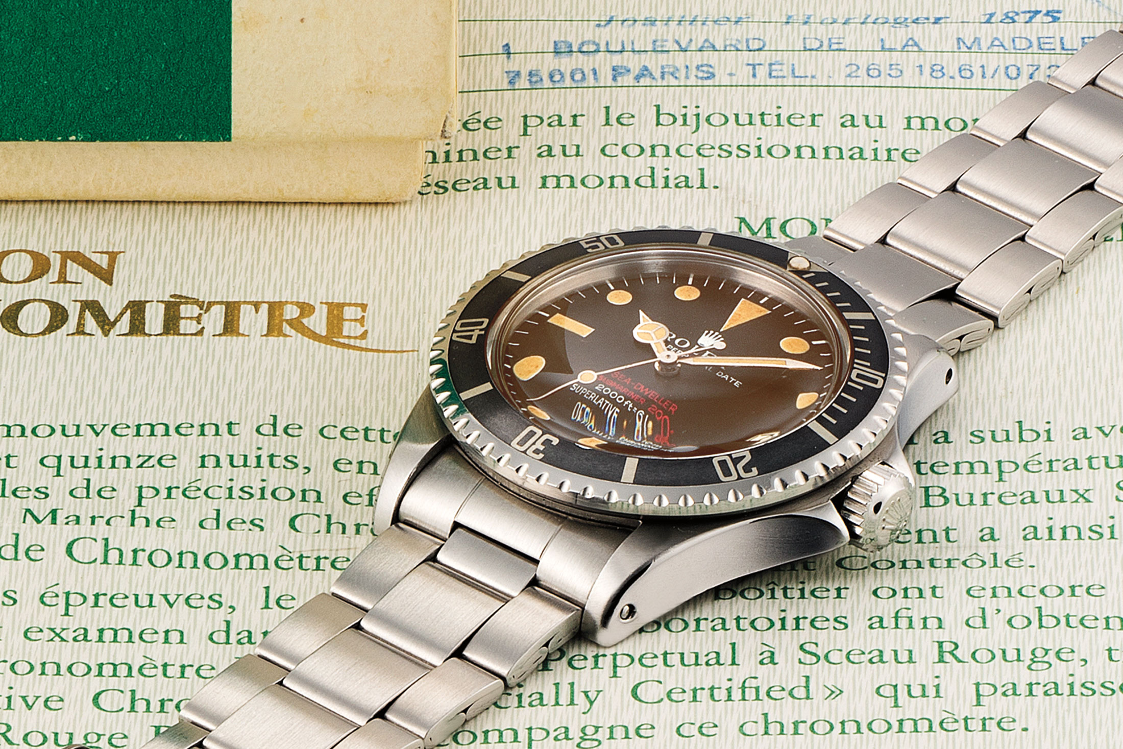 """Rolex Tropical """"Double Red"""" Sea-Dweller (Lot 172)"""