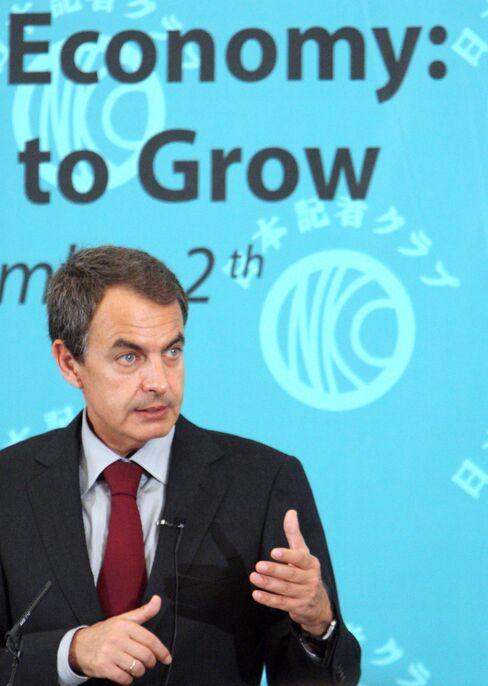 Spain's Prime Minister Jose Luis Rodriguez Zapatero