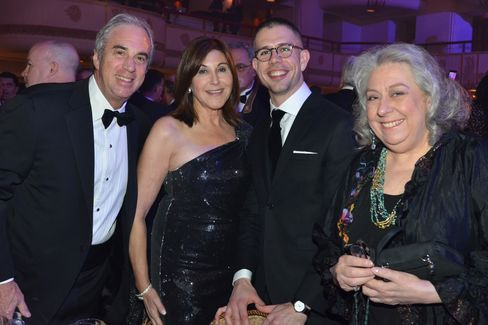 Jeff Barker of Bank of America, Wendy Barker, playwright Stephen Karam and actress Jayne Houdyshell