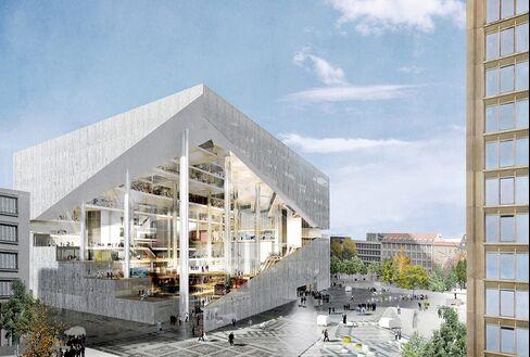 A rendering of Axel Springer's digital center.