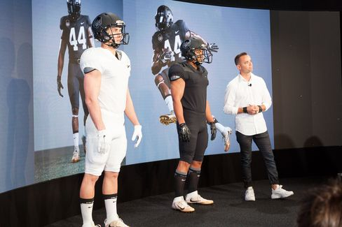 Nate Retzlaff, design director of Nike football, said his team took a minimalist approach in making the new NFL uniforms.