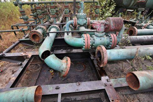 Broken pipework in Nigeria
