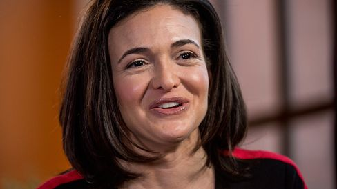 Sheryl Sandberg, chief operating officer of Facebook Inc., speaks during a Bloomberg Television interview in San Francisco on April 23, 2015.