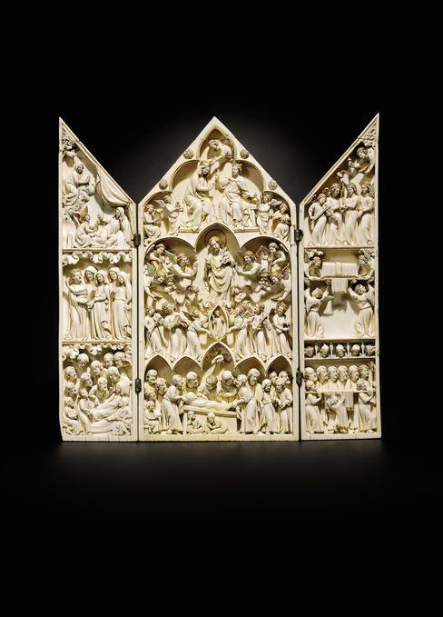 14th-Century French Ivory Triptych