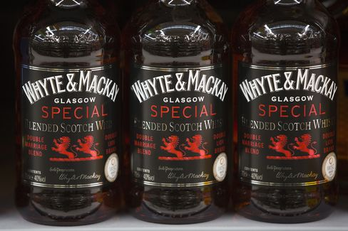 Bottles of Whyte & Mackay Blended Scotch Whisky