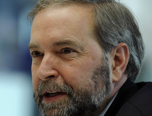 Tom Mulcair, leader of the New Democratic Party.