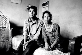 Dhong with his wife, Salome