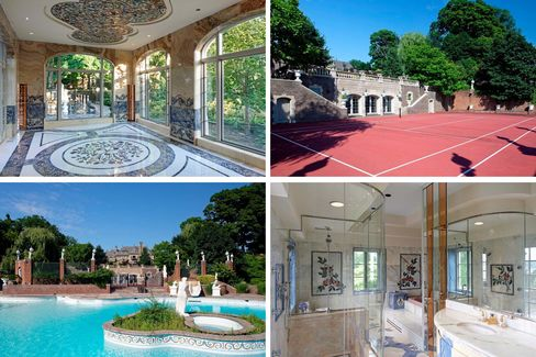 The eight-acre Pond Road compound sits on Long Island Sound. A key key amenities: indoor and outdoor pools, a bowling alley, a casino, and marble stretching for days.