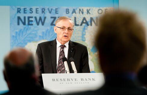 New Zealand Central Bank Governor Alan Bollard
