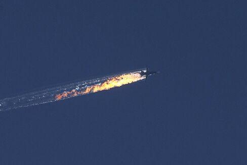 An aircraft goes down near Turkey's border